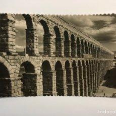 Postales: SEGOVIA. POSTAL NO.1, ACUEDUCTO ROMANO. EDIC. GARCIA GARRABELLA (H.1950?) S/C. Lote 269132623