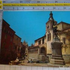 Postales: POSTAL DE SEGOVIA. AÑO 1978. MONUMENTO A JUAN BRAVO E IGLESIA DE SAN MARTÍN. 518 PARIS. 369. Lote 269494403