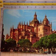 Postales: POSTAL DE SEGOVIA. AÑO 1972. PLAZA DE FRANCO Y CATEDRAL. 62 ARRIBAS. 381. Lote 269495123