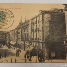 Postales: POSTAL CIRCULADA DE BURGOS ACERA DEL ESPOLON. Lote 270371498