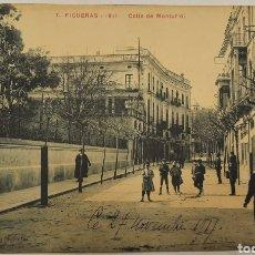 Postales: POSTAL CIRCULADA BURGOS CALLE DE MONTURIOL. Lote 270372408
