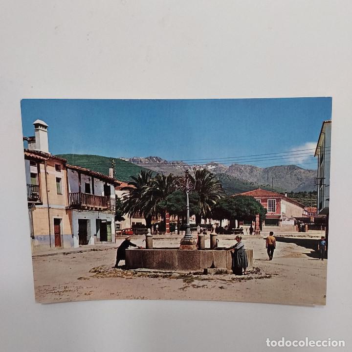 POSTAL AVILA CANDELEDA PLAZA DEL CASTILLO 10,5 X 15 CM ESCRITA. CARRASCO VISTABELLA 1969 (Postales - España - Castilla y León Moderna (desde 1940))