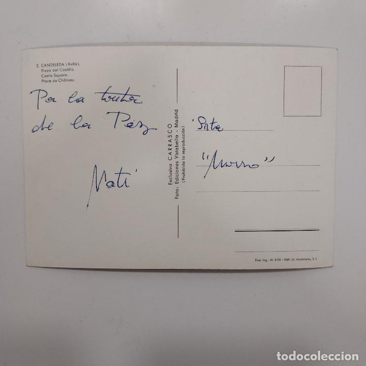 Postales: POSTAL AVILA CANDELEDA PLAZA DEL CASTILLO 10,5 x 15 cm ESCRITA. CARRASCO VISTABELLA 1969 - Foto 2 - 274844248