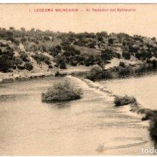 Postales: BONITA POSTAL - LEDESMA (SALAMANCA) - BALNEARIO - AL REDEDOR DEL BALNEARIO. Lote 276086358