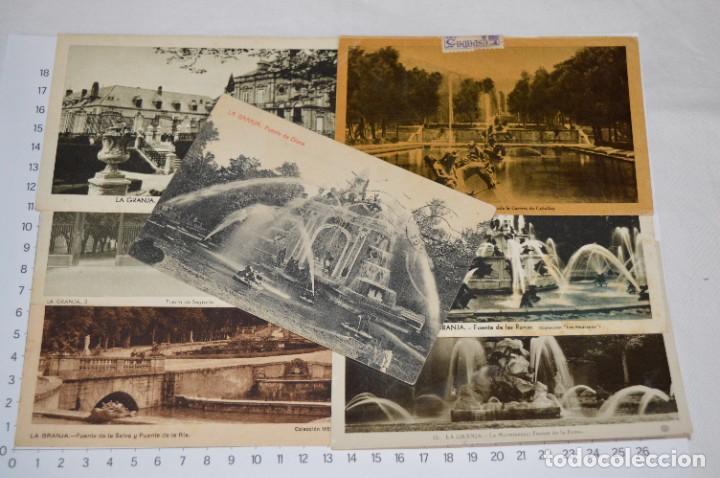 LOTE 7 POSTALES ANTIGUAS / LA GRANJA - SEGOVIA - 6 DE AÑOS 40/50 Y 1 AÑOS 20 ¡MIRA FOTOS/DETALLES! (Postales - España - Castilla y León Antigua (hasta 1939))