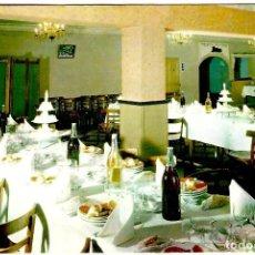 Postales: PALENCIA - RESTAURANTE ARIAS - DORSO CON MENÚ DE BODA 1968 - 150X105 MM. Lote 277254878