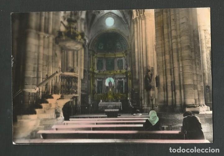POSTAL ESCRITA PERO NO CIRCULADA BENAVENTE 21 (ZAMORA) ALTAR MAYOR Y CRUCERO EDITA PARIS (Postales - España - Castilla y León Moderna (desde 1940))