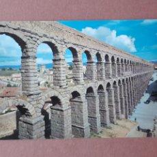 Postales: POSTAL 4 MANSINO. ACUEDUCTO ROMANO. SEGOVIA. 1960. CIRCULADA.. Lote 278963273