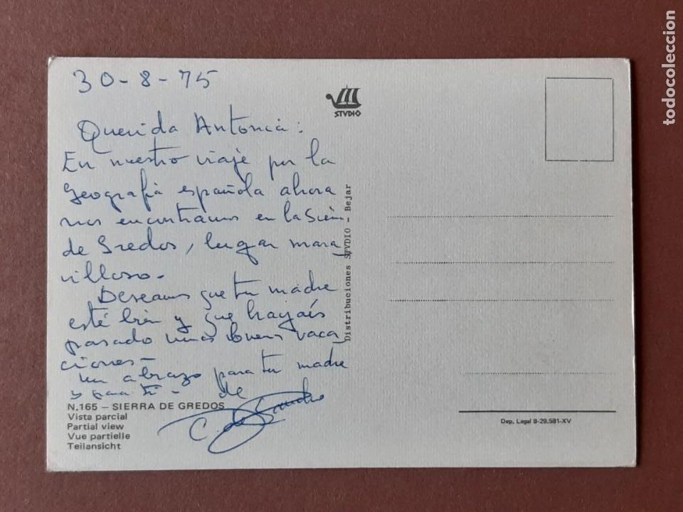 Postales: POSTAL 165 STVDIO. BÉJAR. VISTA PARCIAL. SIERRA DE GREDOS. 1972. ESCRITA SIN CIRCULAR. - Foto 2 - 278964658