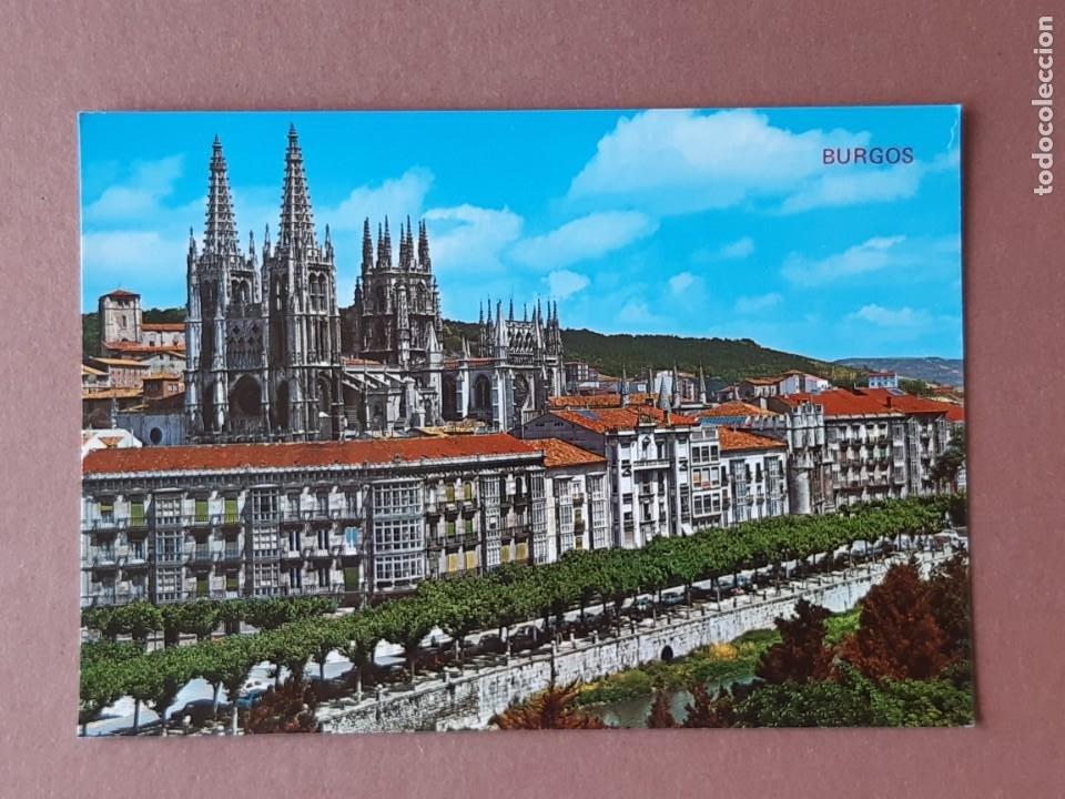 POSTAL 74 ARRIBAS. AVDA. DEL GENERALÍSIMO Y CATEDRAL. BURGOS. 1971. SIN CIRCULAR. (Postales - España - Castilla y León Moderna (desde 1940))