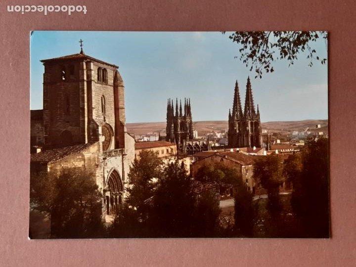 POSTAL 2030 ARRIBAS. IGLESIA DE SAN ESTEBAN Y CATEDRAL. BURGOS. 1964. SIN CIRCULAR. (Postales - España - Castilla y León Moderna (desde 1940))