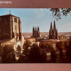 Postales: POSTAL 2030 ARRIBAS. IGLESIA DE SAN ESTEBAN Y CATEDRAL. BURGOS. 1964. SIN CIRCULAR.. Lote 278966553