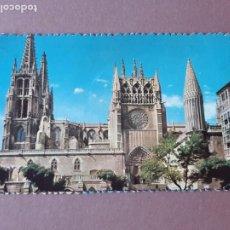 Postales: POSTAL 2 FOTOCOLOR. FACHADA SUR. CATEDRAL. BURGOS. CIRCULADA 1958. TROQUELADA.. Lote 278967493