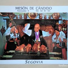 Postales: CÁNDIDO Y SUS ALCALDESAS. MESÓN DE CÁNDIDO, SEGOVIA. 13 X 16,5 CM. S/C. Lote 279448873