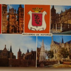 Postais: ASTORGA - CATEDRAL PALACIO EPISCOPAL Y MURALLAS - LEÓN - LAXC - P59523. Lote 282078383