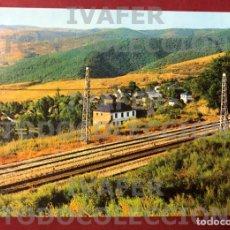 Postales: POSTAL DEL PUEBLO DE LA GRANJA DE SAN VICENTE, PROVINCIA DE LEON, VISTA MIRANDO AL TUNEL DEL LAZO. Lote 288737848