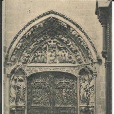 Postales: POSTAL BURGOS - CATEDRAL, PUERTA DEL CLAUSTRO - FOTOTIPIA HAUSER Y MENET. Lote 289207693