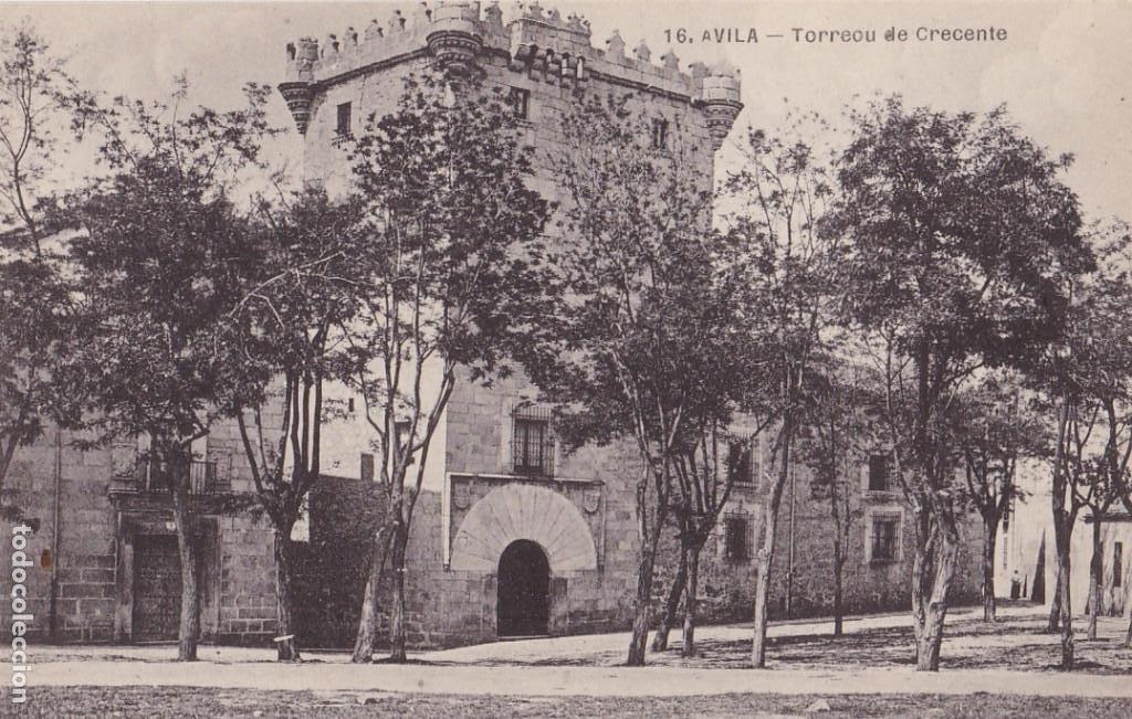 AVILA, TORREON DE CRECENTE. NO CONSTA EDITOR. SIN CIRCULAR (Postales - España - Castilla y León Antigua (hasta 1939))