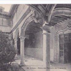 Postales: AVILA, PATIO DEL TORREON DE CRECENTE. ED. LACOSTE MADRID Nº 36. SIN CIRCULAR. Lote 289337523