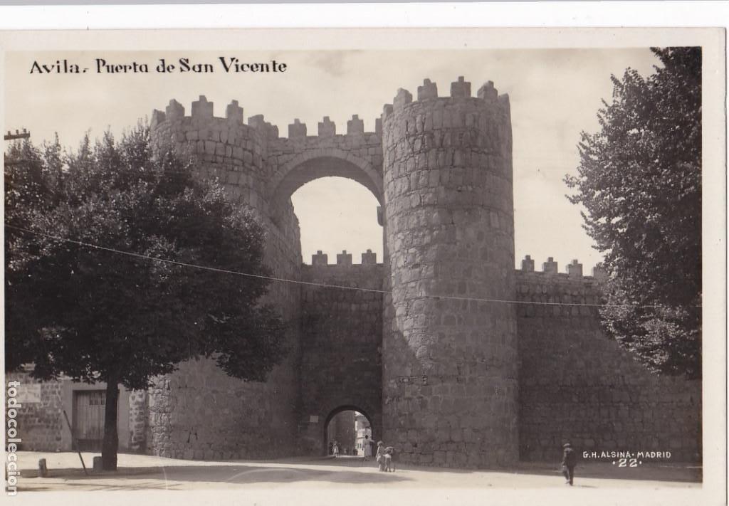 AVILA, PUERTA SAN VICENTE. ED. G.H. ALSINA MADRID Nº 22. POSTAL FOTOGRAFICA SIN CIRCULAR (Postales - España - Castilla y León Antigua (hasta 1939))