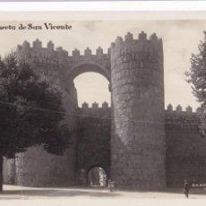 Postales: AVILA, PUERTA SAN VICENTE. ED. G.H. ALSINA MADRID Nº 22. POSTAL FOTOGRAFICA SIN CIRCULAR. Lote 289339073