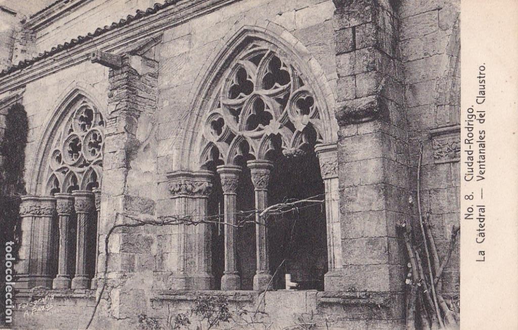 SALAMANCA, CIUDAD RODRIGO CATEDRAL VENTANALES. ED. FOTO A. PAZOS Nº 8. SIN CIRCULAR (Postales - España - Castilla y León Antigua (hasta 1939))