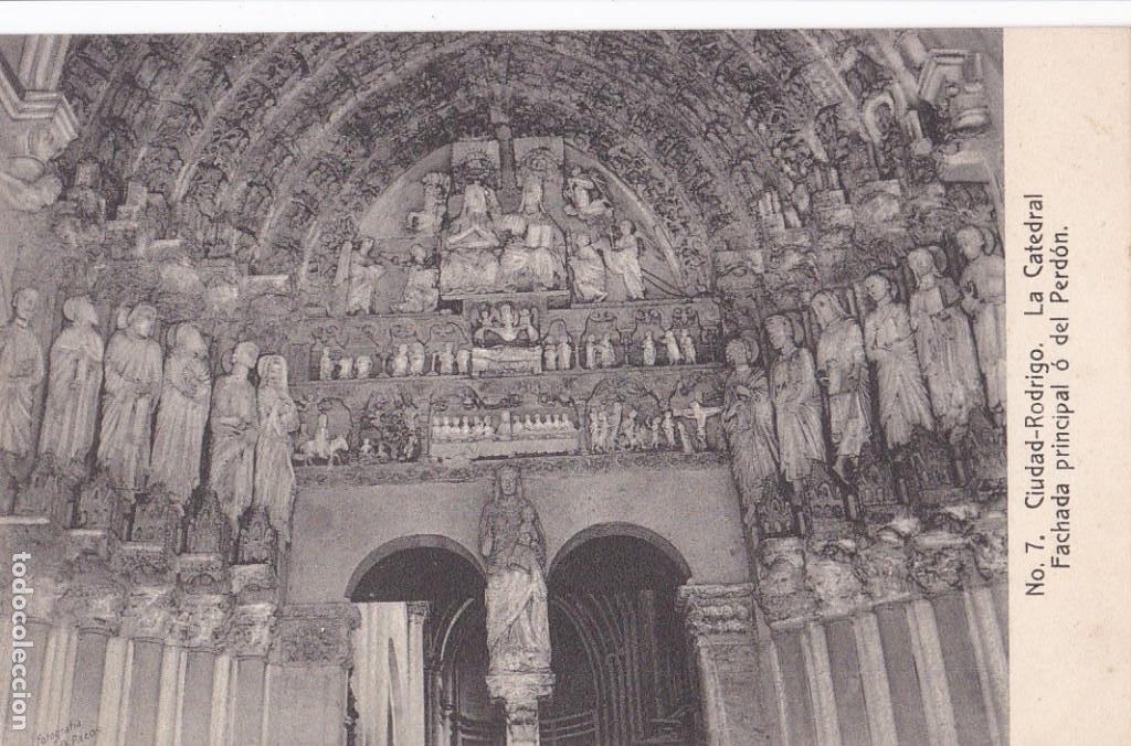 SALAMANCA, CIUDAD RODRIGO CATEDRAL FACHADA PRINCIPAL. ED. FOTO A. PAZOS Nº 7. SIN CIRCULAR (Postales - España - Castilla y León Antigua (hasta 1939))