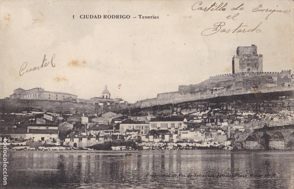 SALAMANCA, CIUDAD RODRIGO TENERIAS. ED. E.J.G. PARIS IRUN, SABASTIAN IGLESIAS Nº 1. SIN CIRCULAR (Postales - España - Castilla y León Antigua (hasta 1939))