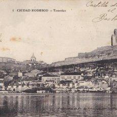 Postales: SALAMANCA, CIUDAD RODRIGO TENERIAS. ED. E.J.G. PARIS IRUN, SABASTIAN IGLESIAS Nº 1. SIN CIRCULAR. Lote 289340323