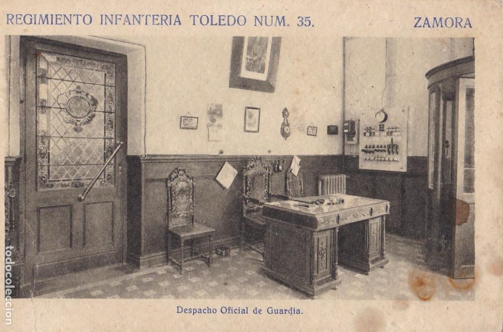 ZAMORA, REGIMIENTO DE INFANTERIA TOLEDO, DESPACHO Nº 35. ED. F. MESAS ARTE BILBAO. SIN CIRCULAR (Postales - España - Castilla y León Antigua (hasta 1939))