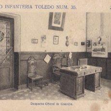 Postales: ZAMORA, REGIMIENTO DE INFANTERIA TOLEDO, DESPACHO Nº 35. ED. F. MESAS ARTE BILBAO. SIN CIRCULAR. Lote 289341768
