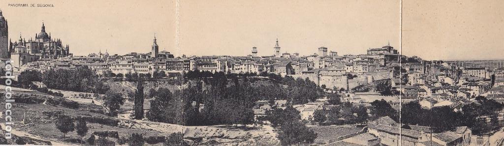 POSTAL TRIPLE DE SEGOVIA. ED. HAUSER Y MENET. SIN CIRCULAR. TAMAÑO 40 X 9 CM. (Postales - España - Castilla y León Antigua (hasta 1939))