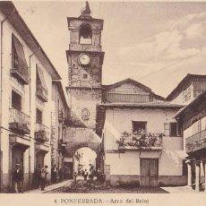 Postales: LEON, PONFERRADA ARCO DEL RELOJ. ED. FOTO ROISIN Nº 4. SIN CIRCULAR. Lote 289343868