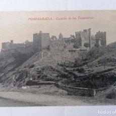 Postales: POSTAL PONFERRADA, CASTILLO DE LOS TEMPLARIOS, AÑOS 30. Lote 289661843
