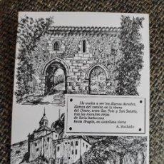 Postales: MACHADO SORIA ILUSRACION ANGEL IGLESIA POSTAL ED LIBRERIA JODRA Nº 8 SAN POLO ERMITA SATURIO. Lote 289662733