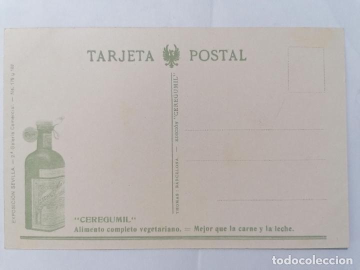 Postales: POSTAL LEON, CATEDRAL, FACHADA PRINCIPAL, PUBLICIDAD CEREGUMIL, AÑOS 30, ESCRITA - Foto 2 - 289663398