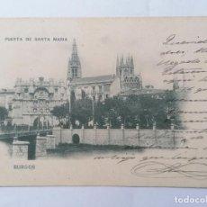 Postales: POSTAL BURGOS, PUERTA DE SANTA MARIA, CIRCULADA, AÑO 20-7-1902, HAUSER Y MENET, Nº 197. Lote 289668548