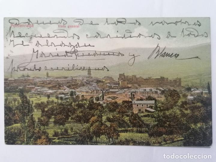 POSTAL PONFERRADA, VISTA GENERAL, CIRCULADA, AÑO 1908 (Postales - España - Castilla y León Antigua (hasta 1939))