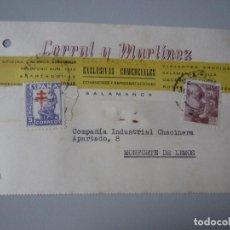 Postales: TARJETA SALAMANCA. Lote 295488393