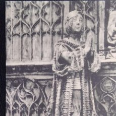 Cartoline: BURGOS. 160 MUSEO PROVINCIAL: ESTATUA EN ALABASTRO DEL SEPULCRO DE JUAN DE PADILLA. HAUSER Y MENET.. Lote 295565348