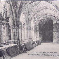 Cartoline: BURGOS. 169 INTERIOR DEL CLAUSTRO DEL EXCONVENTO DE FRESDELVAL. HAUSER Y MENET.. Lote 295565448