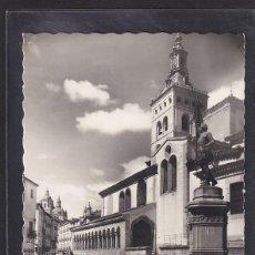 Postales: 53. - SEGOVIA: MONUMENTO A JUAN BRAVO E IGLESIA DE SAN MARTÍN. (CASTILLA Y LEÓN, ESPAÑA). Lote 295931263