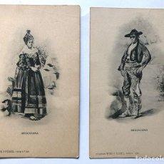 Postales: SEGOVIANA - SEGOVIANO / COLECCIÓN ROMO Y FUSSEL / TIPOS Nº 520-521 / PUBLICIDAD REVERSO. Lote 296683923