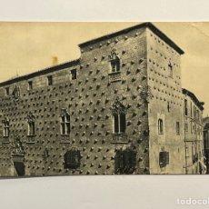 Postales: SALAMANCA. POSTAL LA CASA DE LAS CONCHAS. HUECOGRABADO VASCO JOSE M. MINGO (A.1946). Lote 296774003
