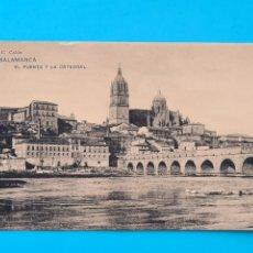 Postales: TARJETA POSTAL SALAMANCA - EL PUENTE Y LA CATEDRAL - HAUSER Y MENET J. C. COLON - SIN CIRCULAR. Lote 297185788