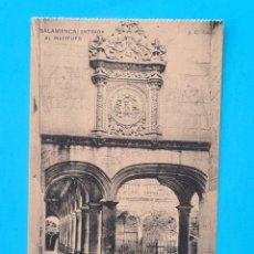 Postales: TARJETA POSTAL SALAMANCA - ENTRADA AL INSTITUTO - HAUSER Y MENET J. C. COLON - SIN CIRCULAR. Lote 297185888