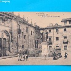 Postales: TARJETA POSTAL SALAMANCA - PLAZA DE LAS ESCUELAS - HAUSER Y MENET J. C. COLON - SIN CIRCULAR. Lote 297186028