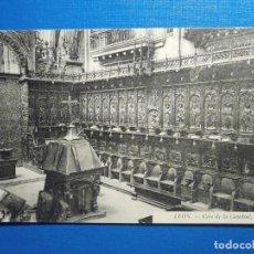 Postales: POSTAL - LEÓN - CORO DE LA CATEDRAL - SIN EDITOR - ESCRITO AÑO 1918 - SIN CIRCULAR. Lote 297267473