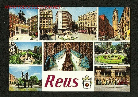 POSTAL DE REUS (TARRAGONA): 8 VISTES (ED.RAYMOND NUM. 12) (Postales - España - Cataluña Moderna (desde 1940))