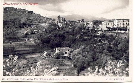 HOSTALRICH. POSTAL ANTIGUA. (Postales - España - Cataluña Antigua (hasta 1939))